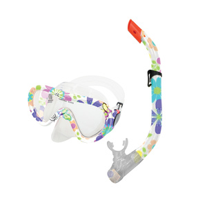 Set snorkel + goggles TAHITI JUNIOR flowered, Spokey