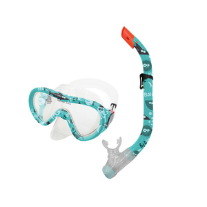 Set snorkel + goggles TAHITI JUNIOR green water world, Spokey