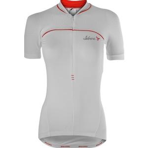 Women's cycling jersey Silvini CATIRINA WD1002 white-red, Silvini