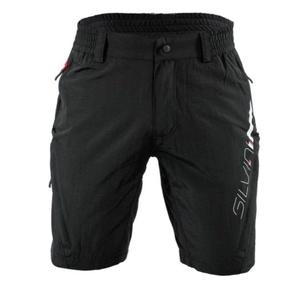 Men MTB cycling pants Silvini MAGO MP858 black-red, Silvini