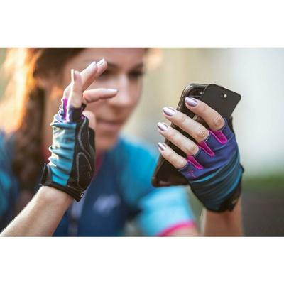 Women cycling gloves Rogelli IMPRESS, blue-pink 010.600, Rogelli