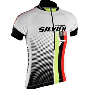 Children cycling jersey Silvini TEAM kids CD842K white, Silvini