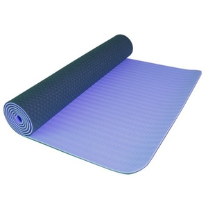 Mat to yoga Yate YOGA MAT DOUBLE-LAYER light blue/ tm. blue, Yate