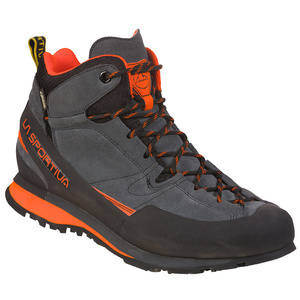 Shoes La Sportiva Boulder X Mid GTX carbon / flame, La Sportiva
