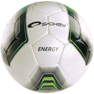 Football ball Spokey ENERGY white and green vel.4, Spokey