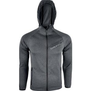 Men hoodie Silvini MONTONE MJ1028  charcoal-black , Silvini