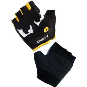 Children cycling gloves Chiba KIDS EYES, black and yellow 30556.1003, Chiba