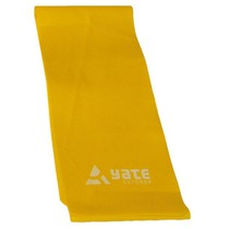 Exercise belt Fit Band 200X12cm, soft, yellow, Yate