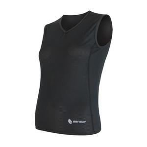 Women scampolo Sensor Coolmax Fresh Air V-neck black 17100018, Sensor