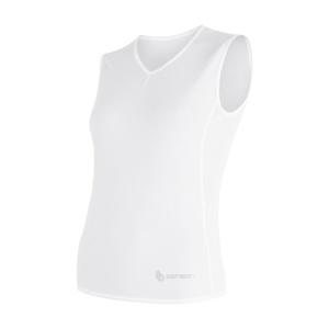 Women scampolo Sensor Coolmax Fresh Air V-neck white 17100019, Sensor