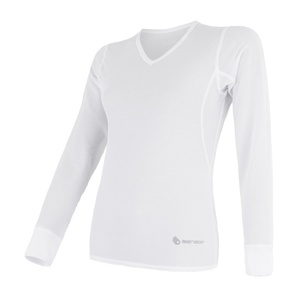 Women shirt Sensor Coolmax Fresh Air V-neck white 17100024, Sensor
