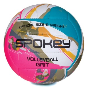 Volleyball ball Spokey GRIT turquoise-white-pink č.5, Spokey