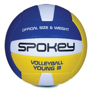 Volleyball ball Spokey YOUNG 3rd blue-and-yellow vel.4, Spokey