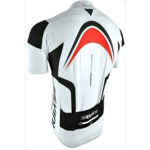 Men cycling jersey Silvini LEMME MD603 white-red, Silvini