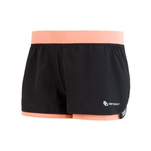 Women running shorts Sensor TRAIL black / apricot 17100108, Sensor