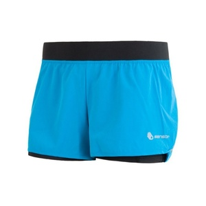 Women running shorts Sensor TRAIL blue / black 17100109, Sensor