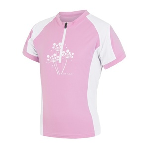 Children cycling jersey Sensor Bicycle ENTRY pink / white 15100103