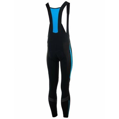 Medium warm bike bibs Rogelli STEALTH with gel lining, black and blue 002.354, Rogelli
