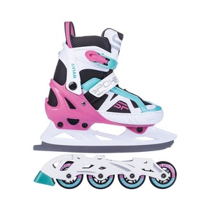 Skates winter I summer Spokey AVIANA adjustable, white-pink, Spokey