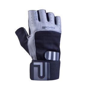 Fitness gloves Spokey Guanta II black and gray, Spokey