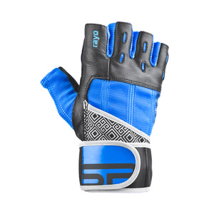 Fitness gloves Spokey RAYO 3rd black and blue, Spokey