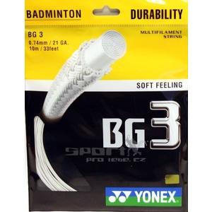 Strings Yonex BG 3 10m, Yonex