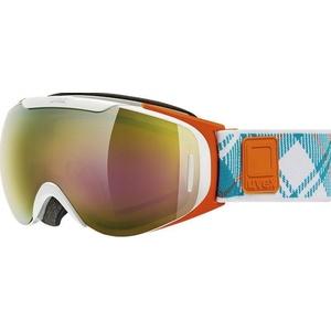 Ski glasses Uvex G.GL 9 RECON READY, white-orange double lens / litemirror gold (1126), Uvex