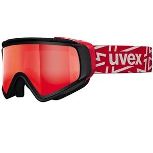 Ski glasses Uvex JAKK TAKE OFF POLA, black mat / litemirror red (2026), Uvex
