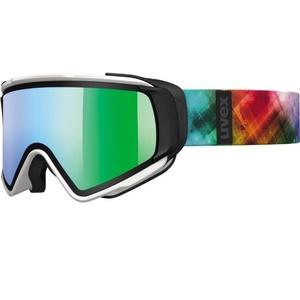 Ski glasses Uvex JAKK TAKE OFF, white mat / litemirror green (1226), Uvex