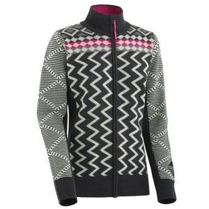 Woolen sweater Kari Traa Vinje F / Z Knit EBONY, Kari Traa
