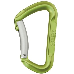Carabiner  Rock Empire Racer Bent light green, Rock Empire