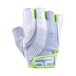 Women fitness gloves Spokey ZOE II white-lime, Spokey