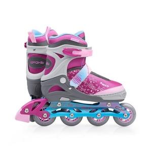 Roller skates Spokey SNAP gray-pink, Spokey