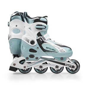 Roller skates Spokey TORQUE 3rd turquoise-white, Spokey