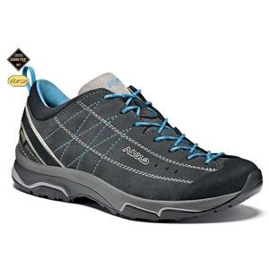 Shoes Asolo Nucleon GV ML graphite / silver / cyan blue/A772, Asolo