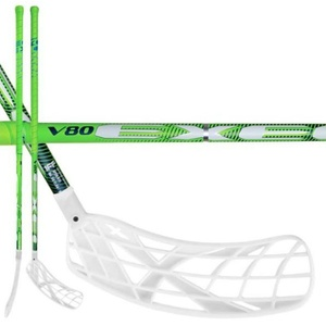 Floorball stick V80 2.6 green 101 OVAL X-blade MB, Exel