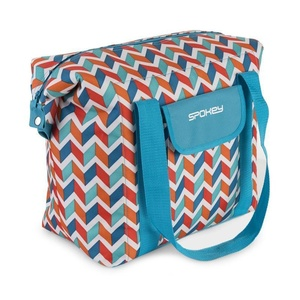 Beach thermal bag Spokey SAN REMO blue zigzag, 52 x 20 x 40 cm, Spokey