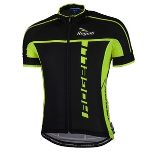 Ultra-light cycling jersey Rogelli UMBRIA 2.0 with short sleeve, black-reflective yellow 001.247., Rogelli