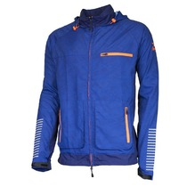 Men running jacket Rogelli STRUCTURE, blue and orange 830.840., Rogelli