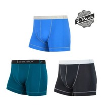 Men shorts Sensor Coolmax Fresh 3-pack black / sapphire / blue 18100025, Sensor