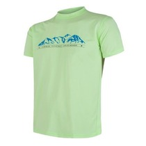 Men shirt Sensor Coolmax Fresh PT Mountains short sleeve light green 18100028, Sensor