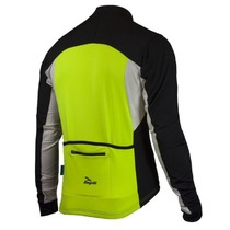 Warm children cycling jersey Rogelli RECCO 2.0 with long sleeve, reflection yellow, Rogelli