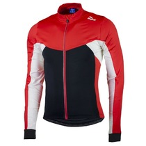 Warm children cycling jersey Rogelli RECCO 2.0 with long sleeve, black and red 001.1400., Rogelli