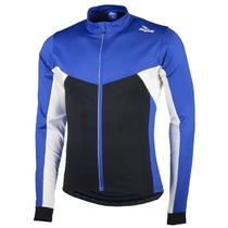 Warm children cycling jersey Rogelli RECCO 2.0 with long sleeve, blue 001.1410., Rogelli