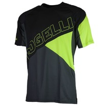 Loose cycling MTB jersey Rogelli ADVENTURE with short sleeve a with no pockets, black-reflective yellow 060.100., Rogelli