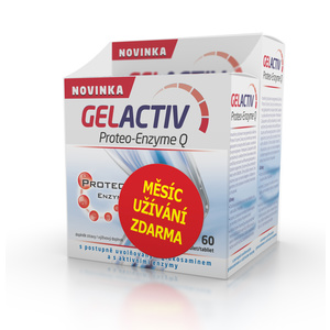 Salutem GelActiv Proteo-Enzyme Q 120+60 tbl. FREE, Salutem