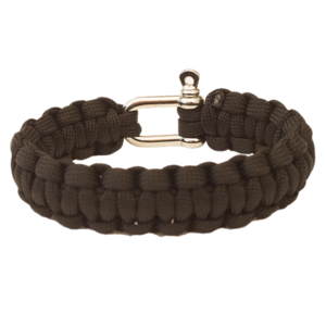 Bracelet HIGHLANDER Paracord metal buckle / black, Highlander