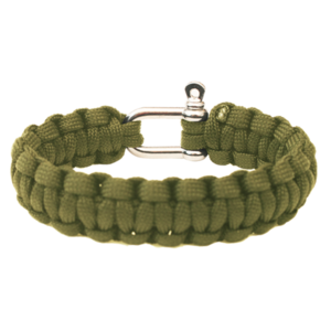 Bracelet HIGHLANDER Paracord metal buckle / olive, Highlander