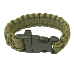 Bracelet HIGHLANDER Paracord trident / whistle / olive, Highlander