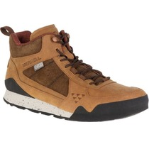 Men boots Merrell Burnt Rock Mid WTPF J91745 merrell oak, Merrell